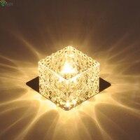 Dia10cm nowoczesne Lustre szkło kryształowe żyrandole Led kreatywny Chrome korytarz Led żyrandol oświetlenie Led Downlight oprawa w Żyrandole od Lampy i oświetlenie na