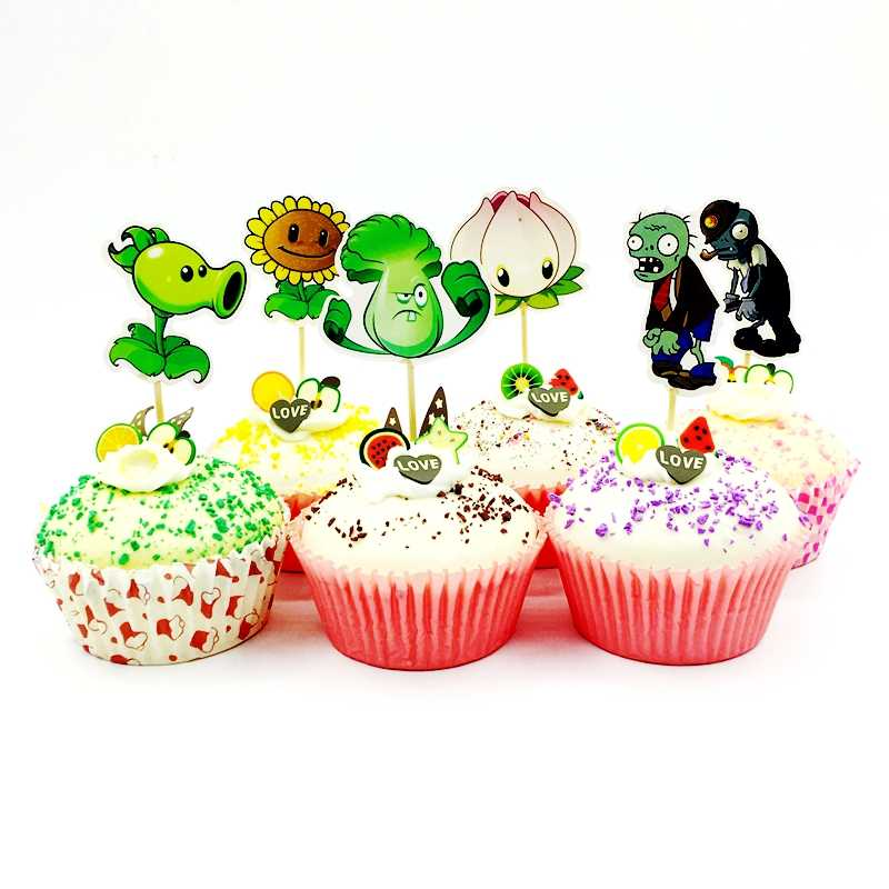 Detail Feedback Questions About 24pcs Plants Vs Zombies Cupcake