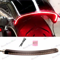 1X LED Fender Running Brake Light W/Turn Signal Smoked Len Kits For Harley 2013 2018 Breakout FXSB CVO