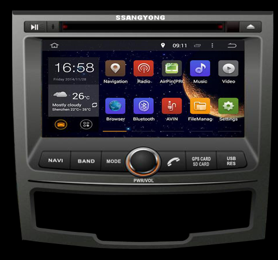Octa/Quad Core Android Car DVD Player GPS For SSANGYONG KORANDO 2013-2017 2 Din Car Radio Stereo Tape Headunit GPS Navi Sat Nav