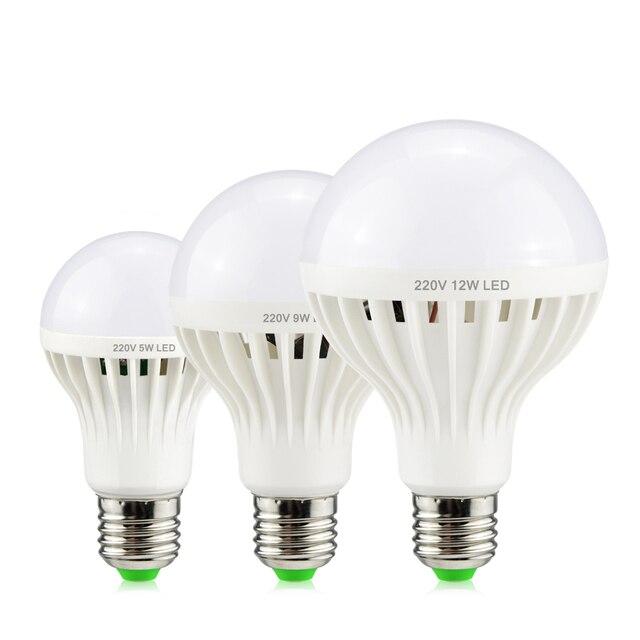E27 Led Lampe Intelligente Schallsensor 220 V Automatische Lampe Led