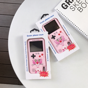 Pink Panther Coque For iPhone 11 7 8 6 6s Plus Case Color Display Game Console Soft TPU Cover For iPhone 12 Pro XR XS MAX X Case