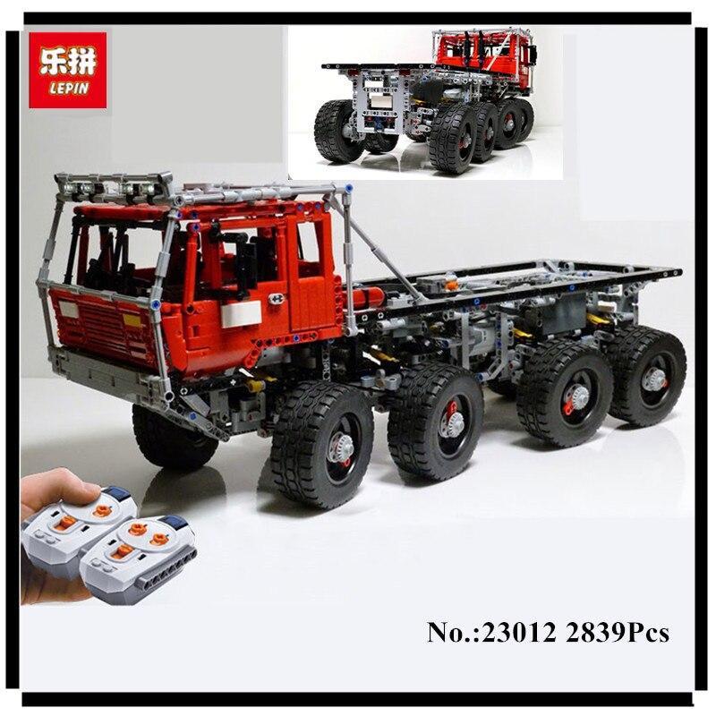 В наличии Новый Лепин 2839 23012 шт. натуральная техника серии Аракава Moc эвакуатор Татра 813 развивающие строительные блоки кирпичи