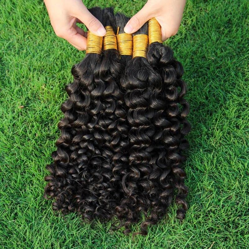 100g Human For Micro Braids Braiding Hair Peruvian Kinky Curly