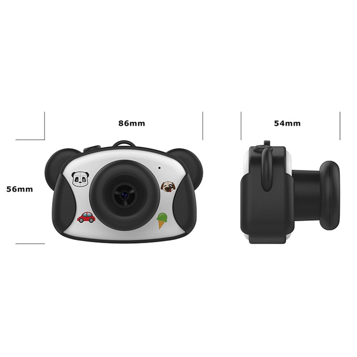8.0MP 1.5 pouces HD écran enfant caméra jouets Mini belle Panda enfants Anti-secousse appareil photo numérique avec des autocollants de bande dessinée enfants cadeaux - 6