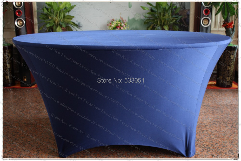 Navy Blue Spandex Table <font><b>Cover</b></font>/Lycra Tablecloth/<font><b>Chair</b></font> Sash/<font><b>Chair</b></font> <font><b>Cover</b></font>/Napkin s For Wedding Party Hotel Banquet Home Decorations