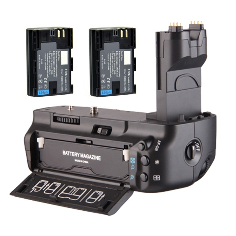 bilder für Multi-power Vertikaler Batterie-griff-halter-satz + 2x LP-E6 LPE6 Li-Ion batterie für canon eos 5d mark ii 5dii 5d2 kamera bg-e6 BGE6