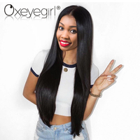 Oxeye Girl Straight Brazilian Lace Front Human Hair Wigs With Baby Hair 8 24 Pre