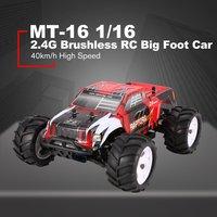 ZD гоночный MT 16 1/16 Масштаб 2,4 г 40 км/ч/высокая скорость бесщеточный внедорожный грузовик большие колеса Bigfoot RC автомобиль пульт дистанционног