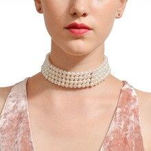 Fashion Jewelry Street Photo Popular Money Necklace Handmade Multi-layer Pearl Girl Gift Wholesale