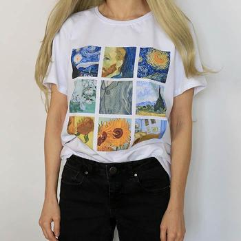 Women's White Painting T-shirts