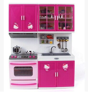Attraktiv Kawaii Hallo Kitty Mädchen Kinder Küche Spielzeug Set Kinder Brinquedos  Meninas Gilr Dollhouse Möbel Mini