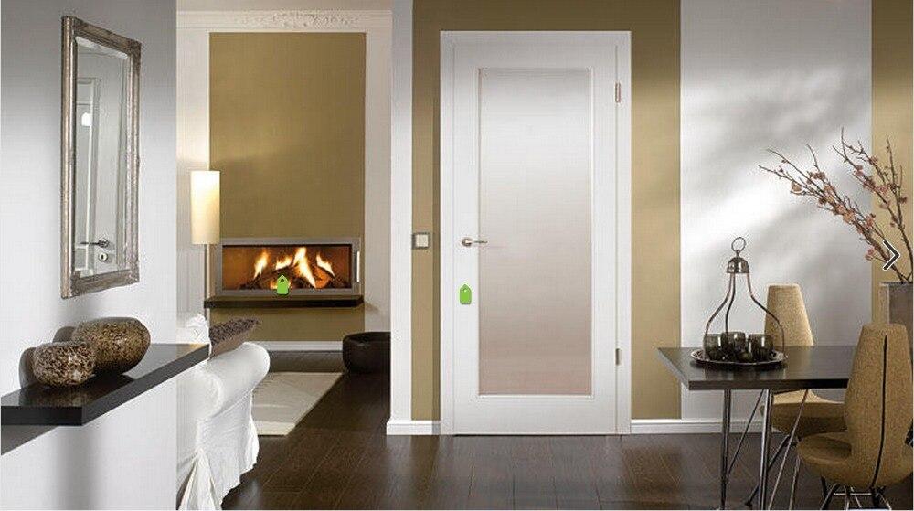 2017 Hot Sale Highly Durable Shaker Style Square Profiles Solid Wood Door  Paint Grade Interior Wood Door Closet Doors ID1606009