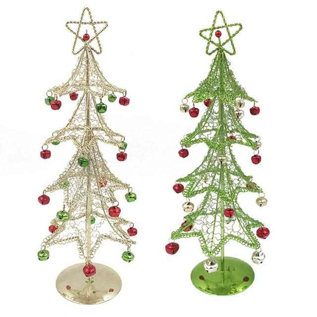christmas decorations wrought iron christmas tree christmas desktop decoration mini christmas tree