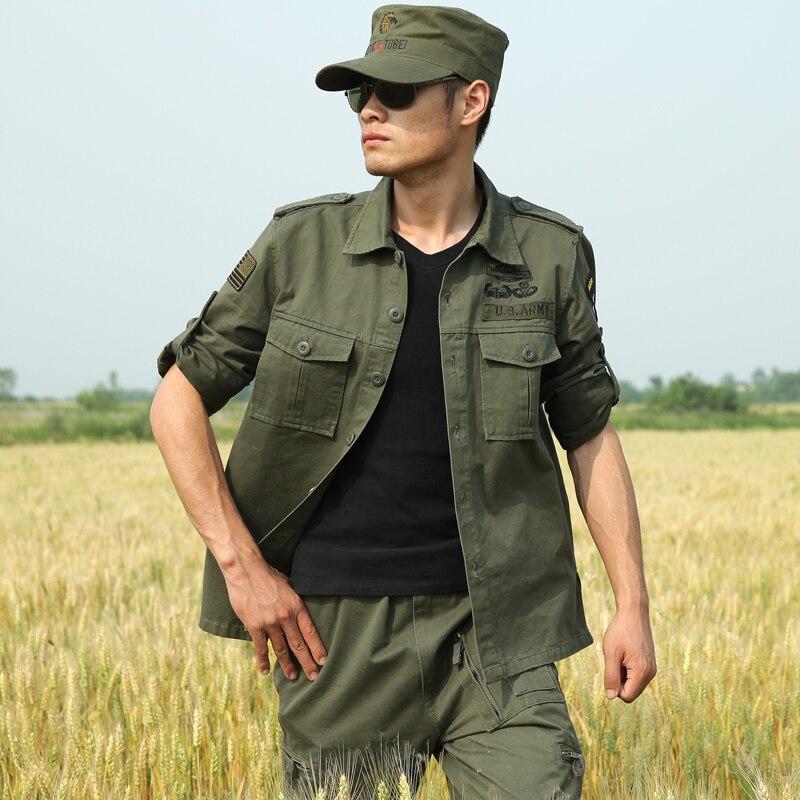 Mens Tactical Shirts 101 Airborne Division Bombing Camping Hiking Hunting Jackets Army Military Commando Shirt Clothing