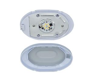 Image 3 - 4 W LED תקרת כיפת אור פלסטיק סגלגל תקרת מנורת עבור 12 V הימי סירת מוטורהום אבזרים