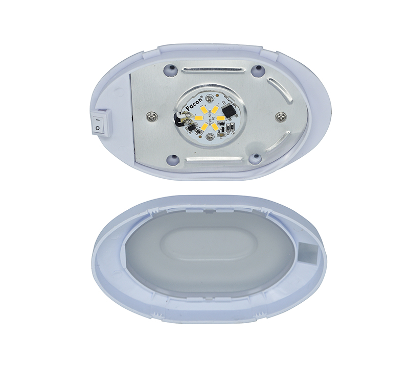 Image 3 - 4W LED Ceiling Dome Light Plastic Oval Ceiling Lamp for 12V Marine Boat Motorhome Accessories-in RV Parts & Accessories from Automobiles & Motorcycles