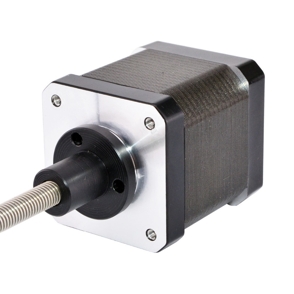 300mm Length Nema 17 External Linear Stepper Motor 1.68A 4-wire with Tr6.35x2 Lead Screw for 3D Printer300mm Length Nema 17 External Linear Stepper Motor 1.68A 4-wire with Tr6.35x2 Lead Screw for 3D Printer