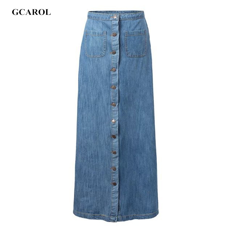 Long straight denim skirts online shopping-the world largest long ...