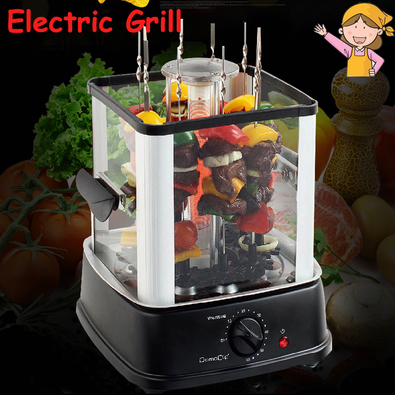 Smokeless Electric Rotating Grill Automatic Baker Barbecue Grill Rotary BBQ Machine Indoor Infrared Heating Oven FL2026