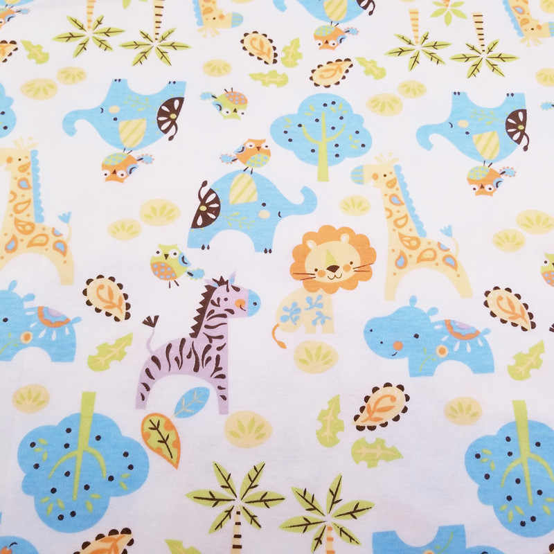 ede21ee6e7d Baby Ineterlock Cotton fabric Printed Lion Jersey Fabric for DIY baby  clothes, bibs, coated