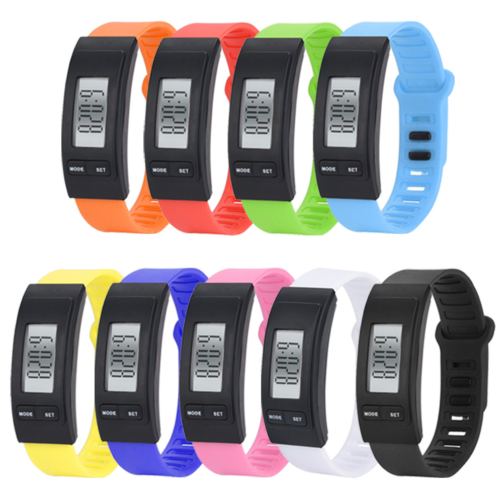 Moment # L05 2018 Lower Price Hot Sales Run Step Watch Bracelet Pedometer Calorie Counter Digital LCD Walking Distance 9 Color
