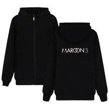 LUCKYFRIDAYF Maroon 5 Hoodie Rock Music Sweatshirt Girls Jacket Hot Band Zipper Coat For music buff Plus Size 4XL Soft Cotton