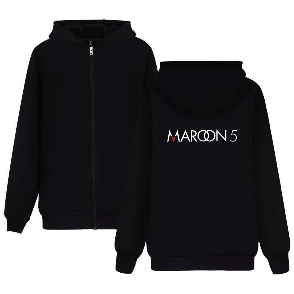 LUCKYFRIDAYF Maroon 5 Hoodie Rock Music Sweatshirt Girls Jacket Hot Band Zipper Coat For music buff Plus Size 4XL Soft Cotton