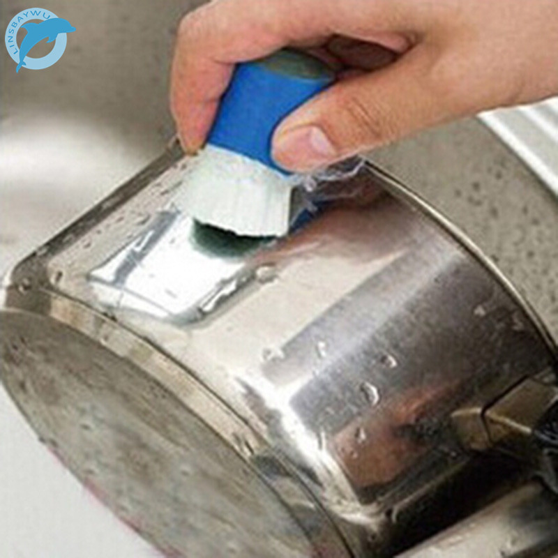 LINSBAYWU New Magic Stainless Steel Metal Rust Brush Remover Cleaning Detergent Stick Wash Brush (Random Color) Drop Shipping