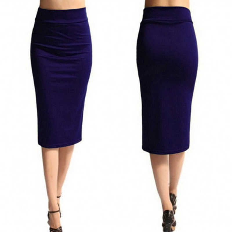 2020 nowych kobiet spódnica Mini obcisła spódnica biuro kobiety Slim kolano długość wysokiej talii Stretch Sexy spódnice ołówkowe Jupe Femme AQ801944