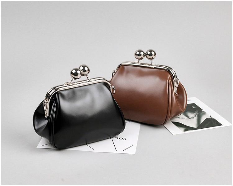 bags women leather shoulder crossbody bag women's handbag kiss lock bag (11)