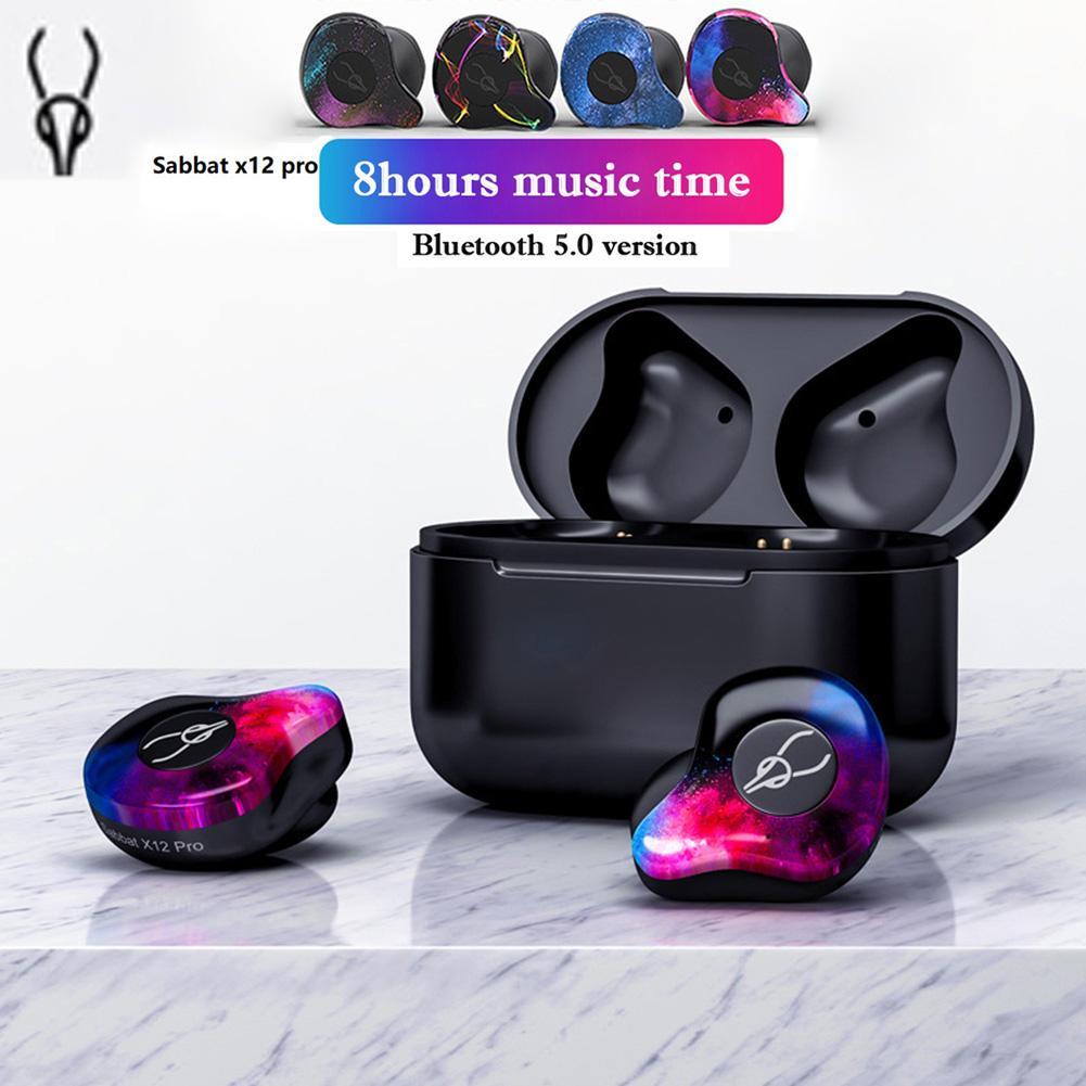 Oreillettes d'origine Sabbat X12 Pro TWS 5.0 Bluetooth jumelage automatique suppression de bruit 4D HIFI stéréo casque de basses étanche Sabbat