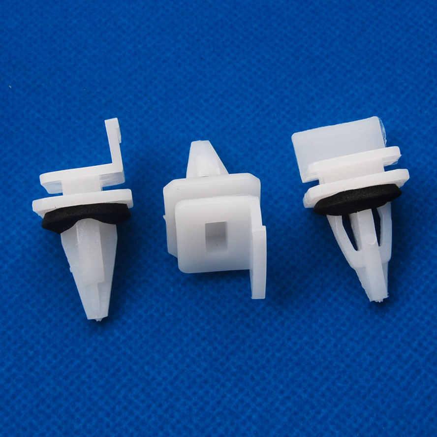 50pcs Nylon Rocker Panel Clip Molding Retainer Fastener for Acura RSX TSX Vigor
