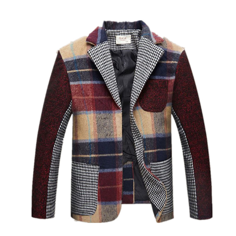 2016 New Fashion Autumn Winter Boy Clothes Long Sleeve Lapel Kids Suit Coat Lattice Handsome Leisure Children Jacket Coat HL0531 2016 new fashion autumn winter boy two pieces suit thicken children tops pants suit leisure hooded kids clothes hl0856