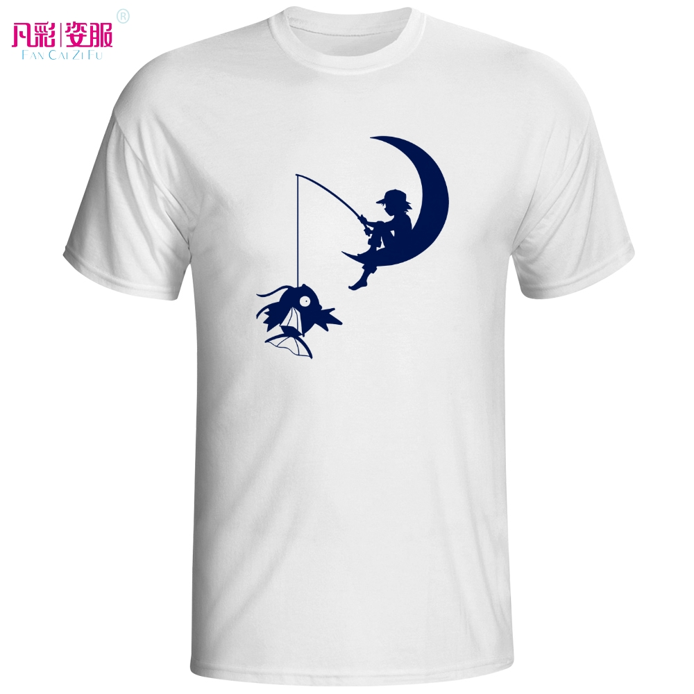 Zinc shirt design - Ash Magikarp On Moon T Shirt Pokemon Crossover Parody Logo Funny Geek Design Naughty Creative T Shirt Novelty Tshirt