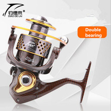 2017 NEW FDDL Brand 13 axis 1000-7000 series Full Metal Double bearing Spinning Fishing Reel Saltwater Freshwater Fishing Wheel