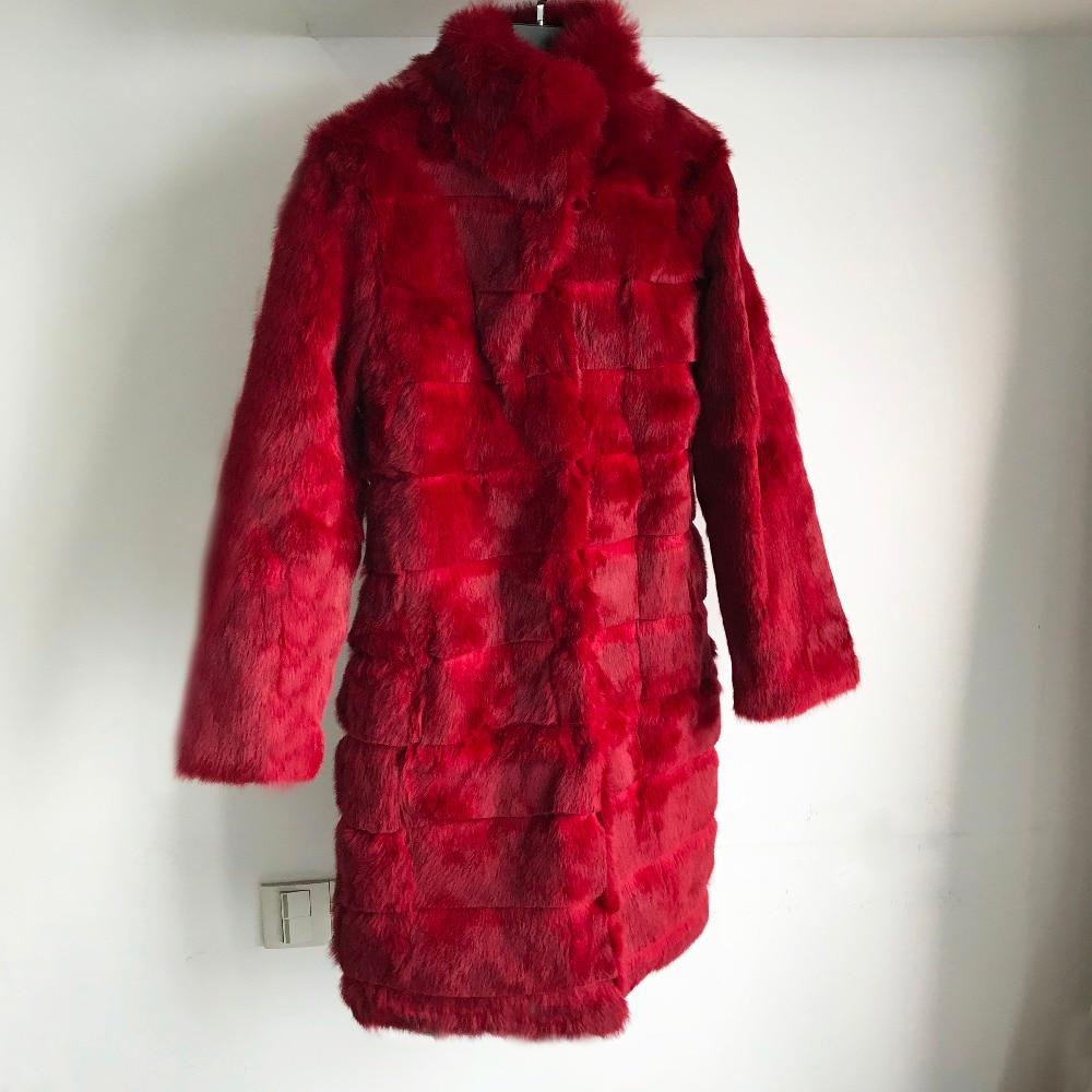 Manteau Wsr456 Nouveau Veste Naturel Cotas red Pleine Pelt Printemps Cut khaki De Lapin Sapphire Pour black Vacances burgandy Réel Fourrure Femmes Avec ppXBF7aq