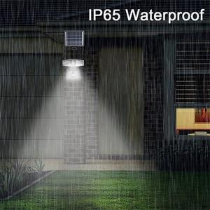 Image 4 - Mpow 178 LED الشمسية الجدار الخفيفة 3 رؤساء الشمسية مستشعر حركة مضاد للماء ضوء السوبر مشرق حديقة الأمن في الهواء الطلق LED كشاف ضوء