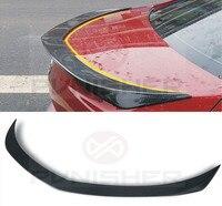 2013+ ATS SPOILER 3D STYLE CARBON FIBER TRUNK LIP SPOILER FOR CADILLAC ATS