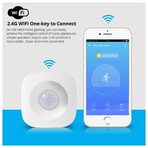 Image 2 - アプリ制御 wifi pir モーション検知器のアラームセンサーホームセキュリティワイヤレスミニ pir 運動センサー盗難警報センサー