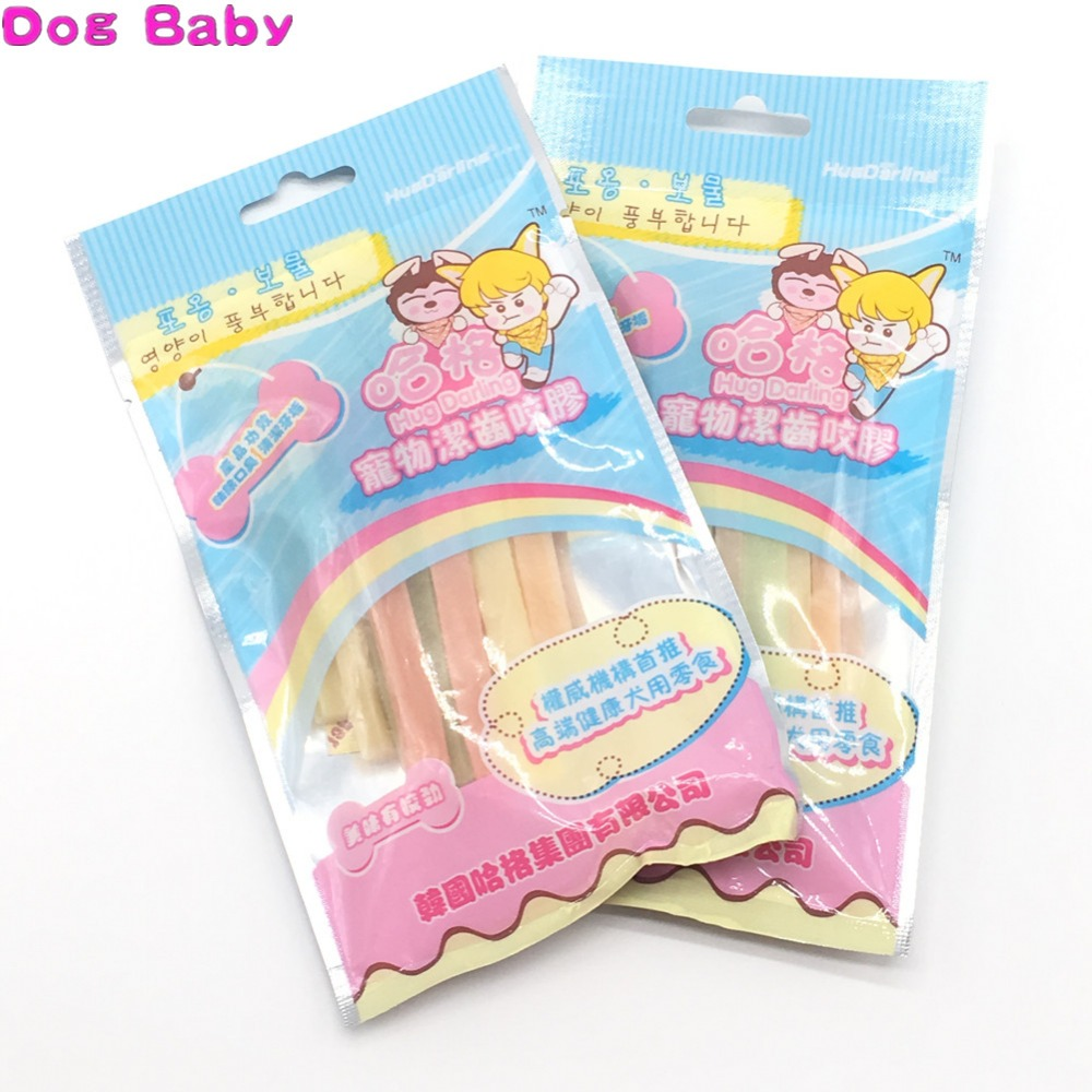 DOGBABY Pet Cuisine Molar Rod Feeder 100% Natural Protein Glue Dogs Snacks Clean Teeth Pets Foods Multi Flavor Chew Feeders 100g image