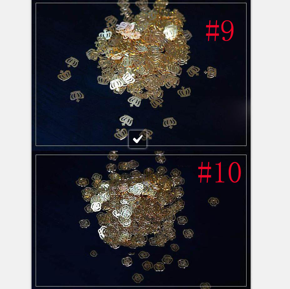 Unids/lote de pegatinas de Metal de copo de nieve, flor para manicura, Cruz, oro, Metal blando, piezas de Arte para uñas de Metal, no adhesivo, 5-10mm, 1000