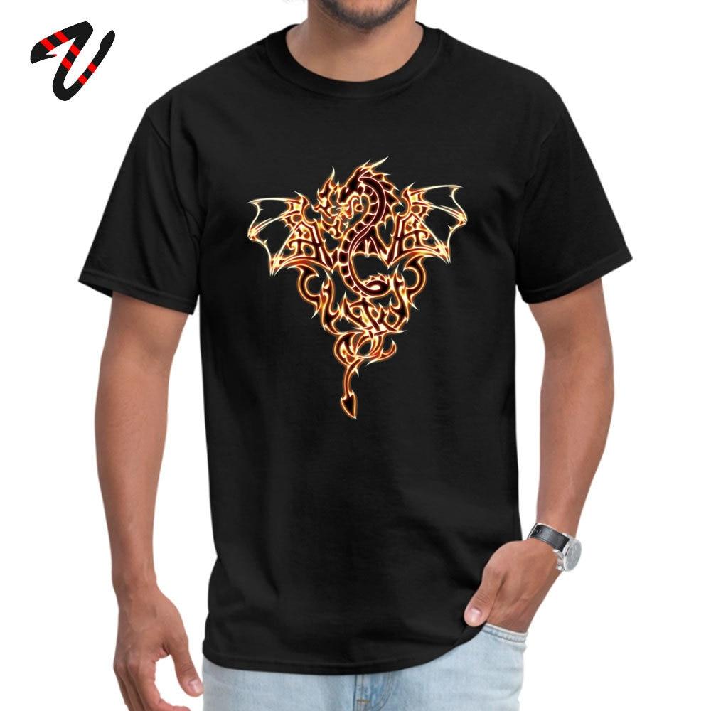 Dragon Fire Dragon Dark All Cotton T-Shirt for Men Short Sleeve Tops T Shirt Fashionable ostern Day O Neck T-Shirt Group Dragon Fire Dragon Dark 8885 black