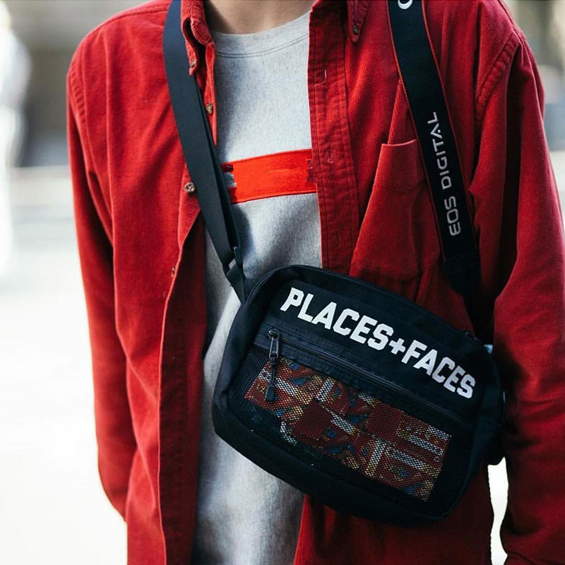 PLACES FACES P+F POUCH BAG 3M Unisex men women chest bag Reflective waist pack hip hop Harajuku Letter Messenger Nylon bagsPLACES FACES P+F POUCH BAG 3M Unisex men women chest bag Reflective waist pack hip hop Harajuku Letter Messenger Nylon bags