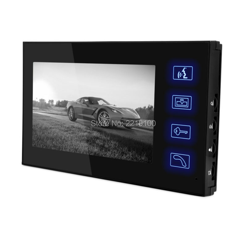 Touch Button Display Screen Video Door Phone 6-core Wired Connection 1 Monitor 7'' TFT LCD Screen