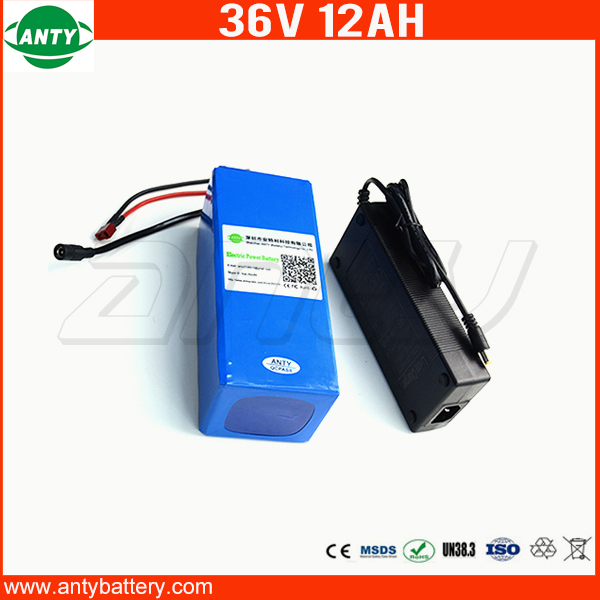 Electric Bike Battery 36V 12Ah 800W Built in 30A BMS Lithium ion Battery 36v with 42v 2A Charger eBike Battery 36v Free Shipping 30a 3s polymer lithium battery cell charger protection board pcb 18650 li ion lithium battery charging module 12 8 16v