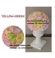 Lớn hoa bóng màu hồng + xanh và tú cầu hoa bảng trung tâm balls cho wedding trang trí