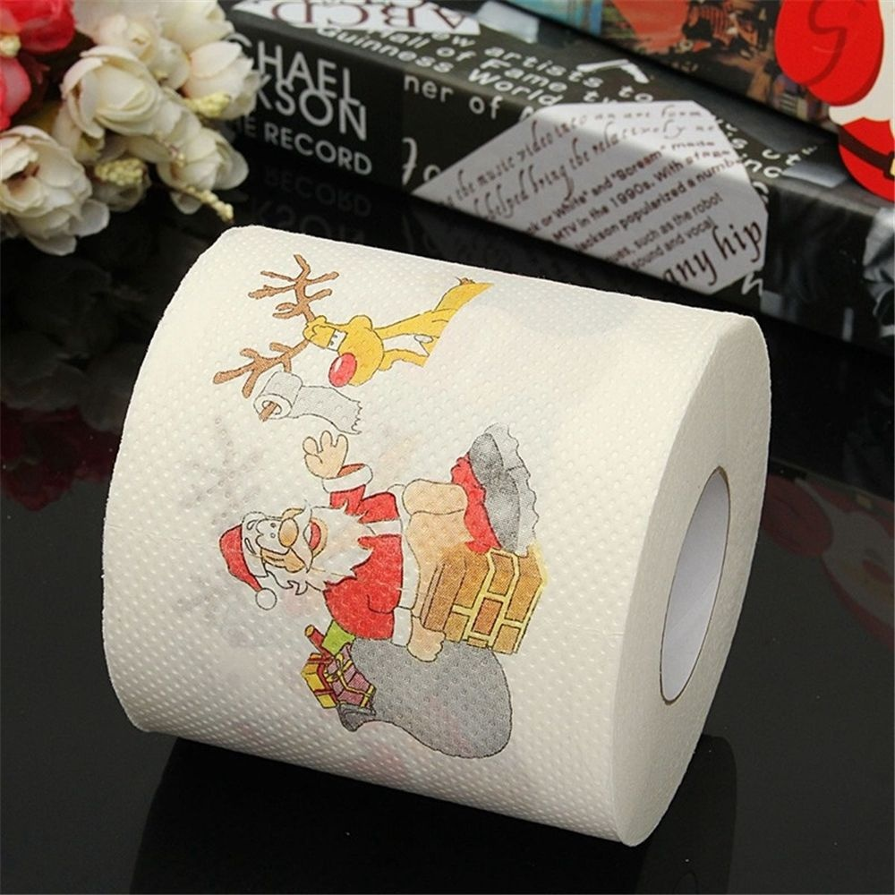 Us 2 85 7 Off Santa Claus Printed Merry Christmas Toilet Paper Tissue Table Room Decor Party Ornament Diy Craft Paper Holiday Home Supplies In