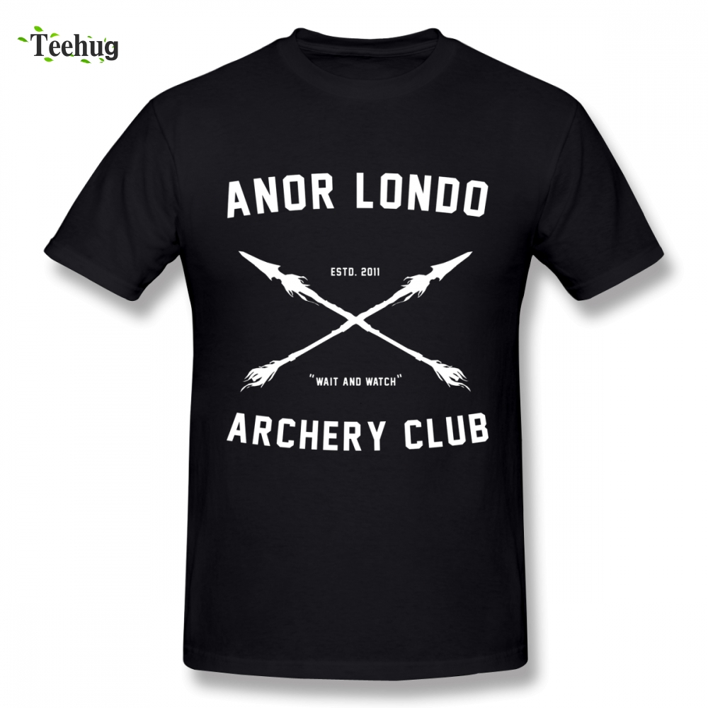 Hipster Men ANOR <font><b>LONDO</b></font> ARCHERY CLUB Homme Tee Shirt Free Shipping Unique Birthday gift For Man Tee shirt image