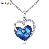 PERFECT 2017 New Austria Crystal Pendant Necklaces Of Women Love Is The Sea